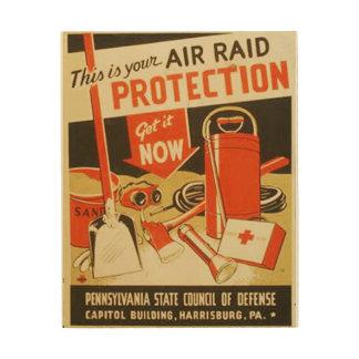 Poster de WPA de la defensa de la protección del Impresión En Madera