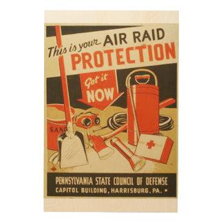 Poster de WPA de la defensa de la protección del Impresiones En Madera