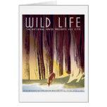 Poster de WPA de la fauna (ciervos) Tarjeta Pequeña