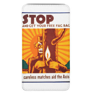 Poster de WPA de la prevención del incendio Funda Acolchada Para Galaxy S5