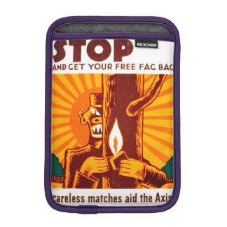 Poster de WPA de la prevención del incendio Fundas Para iPad Mini