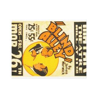"""Poster de WPA del """"callejón ciego"""" de las artes Impresión En Tela"""
