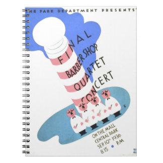 Poster de WPA del concierto del cuarteto de la Notebook