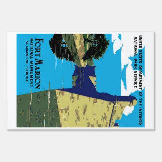 Poster de WPA del monumento nacional de Marion del Letreros