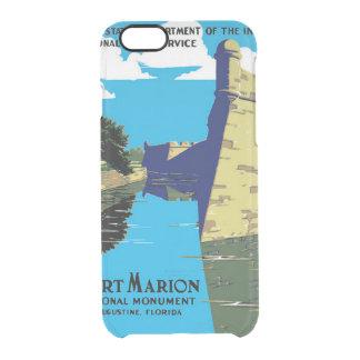 Poster de WPA del monumento nacional de Marion del Funda Clearly™ Deflector Para iPhone 6 De Uncommon