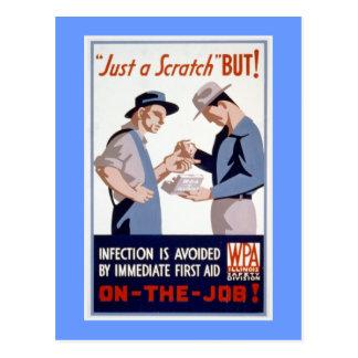 Poster de WPA del vintage de los primeros auxilios Tarjetas Postales