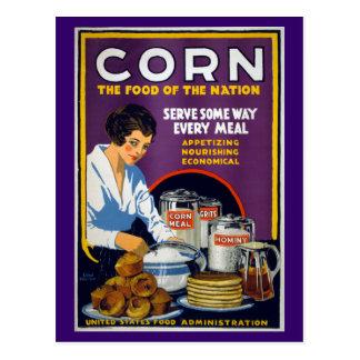 Poster de WPA del vintage del maíz Postal