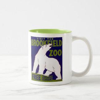 Poster de WPA del vintage del oso polar del parque Tazas De Café