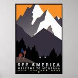 """""""Poster de WPA Montana del vintage """""""