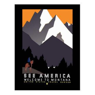 Poster de WPA Montana del vintage Postal