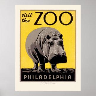 Poster de WPA para el parque zoológico de Philadel