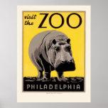 Poster de WPA para el parque zoológico de Philadel Póster
