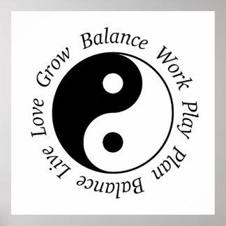 Poster de Yin Yang de la balanza