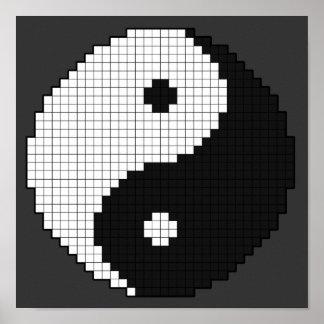 Poster de Yinyang del pixel