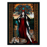 Poster de Zyanya de la sacerdotisa del quetzal de