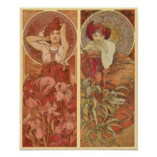 Poster decorativo Amethyst y esmeralda de los pane