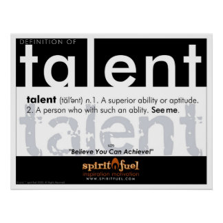 Poster Definition - Talent