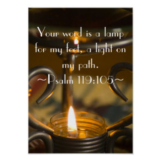 Poster del 119:105 del salmo
