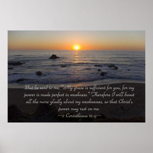 Poster del 12:9 de 2 Corinthians Póster
