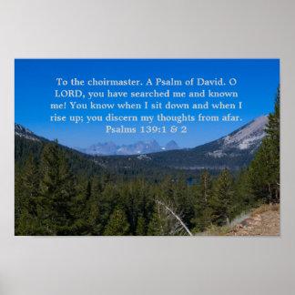 Poster del 139:1 &2 de los salmos