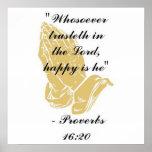 Poster del 16:20 de los proverbios