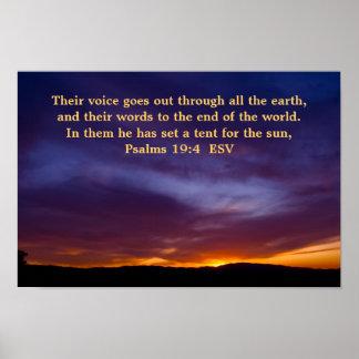 Poster del 19:4 de los salmos