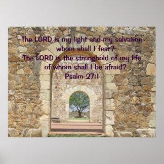Poster del 27:1 del salmo