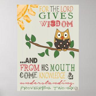 Poster del 2:6 de los proverbios