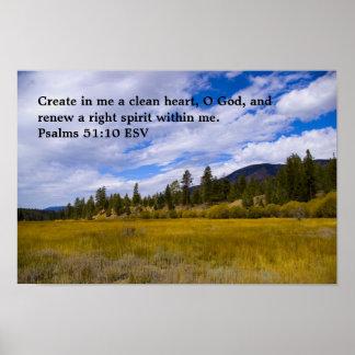 Poster del 51:10 de los salmos