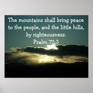 Poster del 72:3 del salmo
