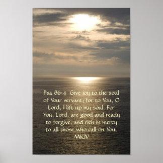Poster del 86:4 del salmo