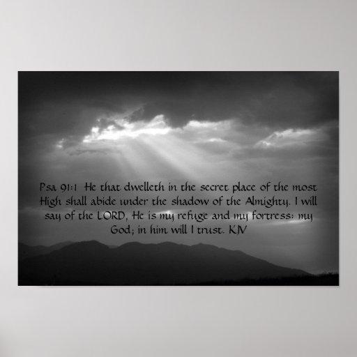Poster del 91:1,2 del salmo
