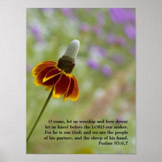 Poster del 95:6,7 de los salmos