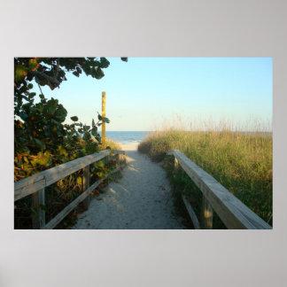 Poster del acceso de la playa