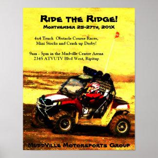 Poster del acontecimiento del Motorsports - razas