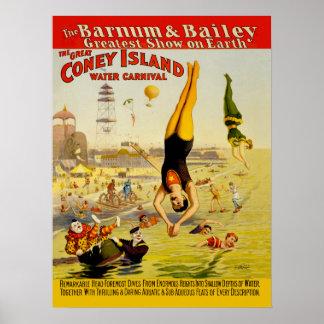 Poster del acto secundario de Coney Island