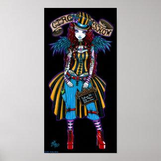 Poster del acto secundario del tatuaje del circo d