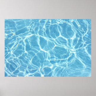 Poster del agua de la piscina
