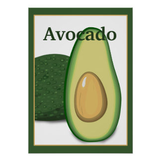 Poster del aguacate 20x28