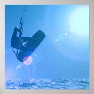 Poster del aire de Kitesurfing