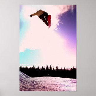 Poster del aire de la snowboard