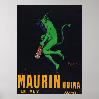 Poster del ajenjo de Maurin Quina