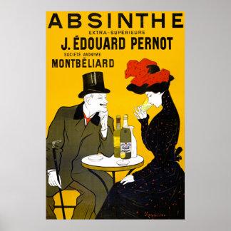 Poster del ajenjo del vintage