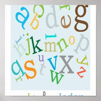 Poster del alfabeto de los muchachos