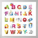 poster del alfabeto de los niños