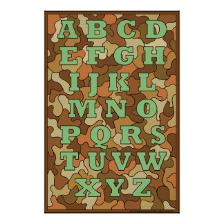 Poster del alfabeto del camuflaje