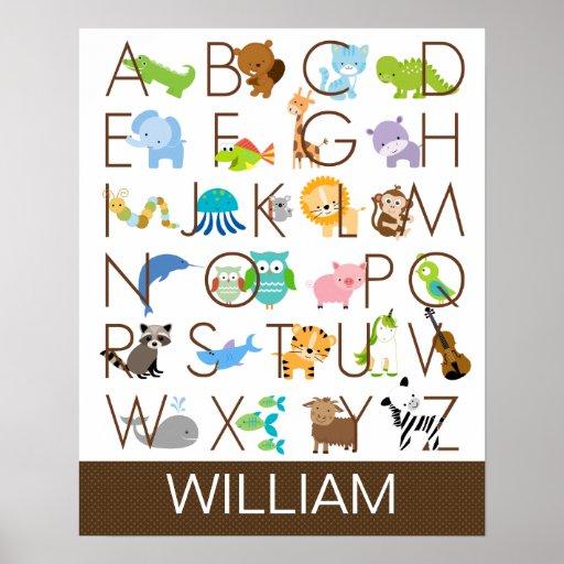 Poster del alfabeto para los niños