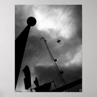 "Poster del ""alto buceador"" de Rick Waldroup"