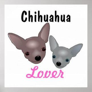 Poster del amante de la chihuahua