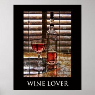 Poster del amante del vino